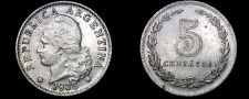 Buy 1938 Argentina 5 Centavo World Coin
