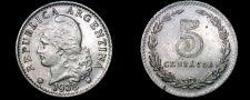 Buy 1938 Argentina 5 Centavo World Coin