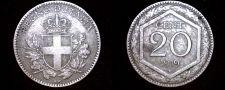 Buy 1919-R Italian 20 Centesimi World Coin - Italy