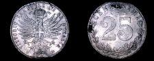 Buy 1902-R Italian 25 Centesimi World Coin - Italy