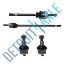 Buy New Set: FRONT Driver and Passenger CV Axleshaft 2 Lower Ball Joints 4x4