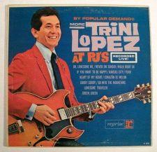 Buy TRINI LOPEZ ~ More Trini Lopez At PJ's 1963 Pop LP Recorded Live!