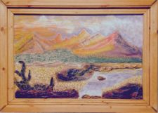 Buy Turmoil in the Andes ~ The artist's rendering of a stylized view of the An~10