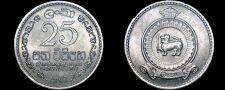 Buy 1963 Ceylon Sri Lanka 25 Cent World Coin