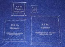 """Buy Quilting Template - 4 Piece Half Size Square Set - 1/8"""" Clear Acrylic"""
