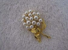 Buy Sarah Coventry Jewelry Pearl Flower Bunch Pin #1326