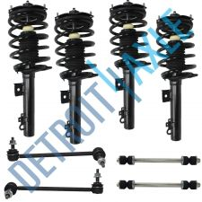 Buy 8 pc Kit NEW - 4 Front and Rear Complete Ready Strut Assembly + 4 Sway Bar Link