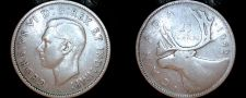 Buy 1942 Canadian Quarter 25 Cents Canada Silver Coin
