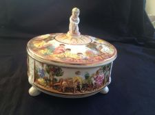 Buy Antique Capodimonte Porcelain Bowl with Cherubs Cupids Figurine.