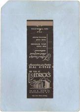 Buy New York Gloversvile Matchcover Pedrick's 48-50 N Main St ny_box5~1977