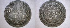 Buy 1941 Netherlands 2 1/2 Cent World Coin