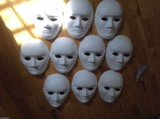 "Buy FOUR ITEMS - White ""Blank"" Mask - Fast Free USA shipping USA"