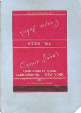 Buy New York Lackawanna Matchcover Cooper John's 1648 Abbott Rd ny_box4~2396