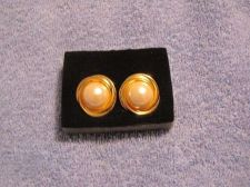 Buy Sarah Coventry Jewelry Pearl mabe button earrings (Lustre post) #1162