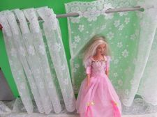 Buy Lace Curtain 36 x 88 cm Lot of 2 ivory White for American Princess Dollhouse
