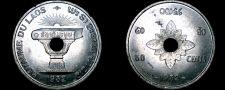 Buy 1952 Laotian 50 Cent World Coin - Laos