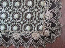 Buy Lace Black & Gold Doily Floral Table Runner 36 x 122 cm + Placemats 32 x 84,RARE