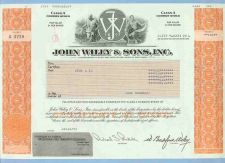 Buy New York na Stock Certificate Company: John Wiley & Sons, Inc ~46