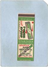 Buy New York Buffalo Matchcover Spartan Oliver Abrasive & Tool Co Inc 37 Pearl~2492