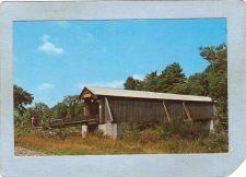 Buy New York Livingston Manor Covered Bridge Postcard Bridge Over Willowemoc R~491