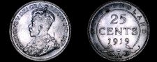 Buy 1919-C Newfoundland 25 Cent World Silver Coin - Canada