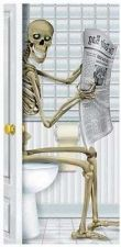 Buy Halloween Skeleton Restroom Party Prop Haunted House Bathroom Wall Door Cover