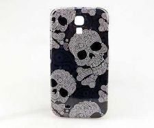 Buy New Fashion Vintage Cover Case For Samsung Galaxy S4 with New Skull Bone
