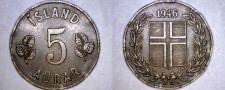 Buy 1946 Icelandic 5 Aurar World Coin - Iceland