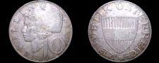 Buy 1958 Austrian 10 Schilling Silver World Coin - Austria