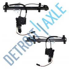 Buy Pair 2 NEW Front Driver and Passenger Power Window Regulator Assembly w/ Motor