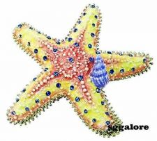 Buy Collectible RUCINNI Swarovski Crystals BeJeweled STARFISH Trinket Jewelry BOX