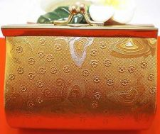 Buy THAI STYLE VINTAGE WALLET LOCKABLE OUTSIDE STRONG METAL INNER RED CLOTH WOMAN.