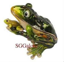 Buy Collectible RUCINNI Swarovski Crystals BeJeweled FROGS Trinket Jewelry BOX