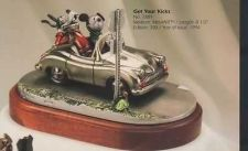 Buy Goofy & Mickey Mouse hot Roding Route 66 Pewter Disney Figurine LT ED 350