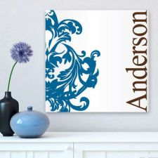 Buy Blue Fleur-de-Lis Family Canvas Print - Free Personalization
