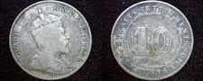 Buy 1910 Straits Settlements 10 Cent World Silver Coin - British East India Company