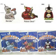 Buy Futurama Nibbler Bender Robot Devil metal 3 Motion Clicker Toys