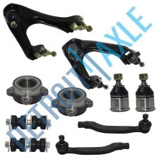 Buy 2 Each Front Wheel Bearing, Upper Control Arm Lower Ball Joint Tie Rod Sway Link