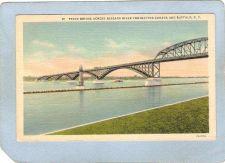 Buy New York Buffalo Lighthouse Postcard Lighthouse w/Peace Bridge Across Niag~756