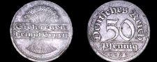 Buy 1920 F German 50 Pfennig World Coin - Germany Weimar Republic