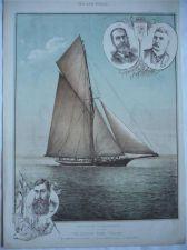 Buy Scottish Yacht Thistle Americas Cup 1887 original colour print