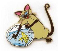 Buy Villain CAT Lady & Tramp Auction Authentic Disney original backer card Pin/Pins