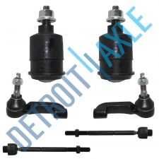 Buy 6 pc Set: NEW 2 Front Inner and 2 Outer Tie Rod End + 2 Lower Ball Joint