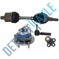 Buy 4 pc Set Front LH CV Axle + Tie Rod + Ball Joint + Wheel Hub Bearing FWD w/ ABS