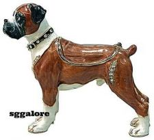 Buy New RUCINNI Swarovski Crystals BeJeweled BOXER DOG Trinket Jewelry BOX DOGS