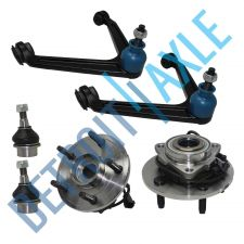 Buy NEW 2 Wheel Hub Bearing + 2 Upper Control Arm +2 Lower Ball Joint Rear-Wheel ABS