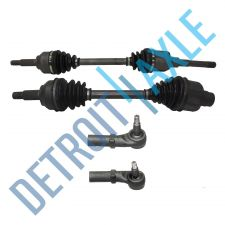 Buy 4 pc Kit Front Driver and Passenger CV Axle Shaft Non-ABS A/T + 2 Outer Tie Rods
