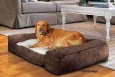 Buy Large Dog Beds Pet Cushion Lounger Pillow Memory Foam Fleece Sleep Pad Suede