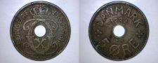 Buy 1928 N-GJ Danish 5 Ore World Coin - Denmark