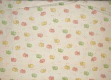 "Buy Corduroy Fabric White with a multi color Kitten Print 2 1/4 yds 32"" wide"